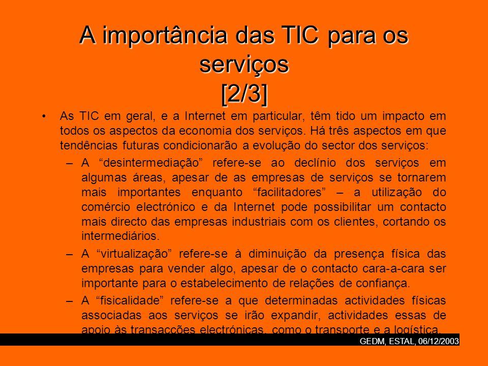 A importância das TIC para os serviços [2/3]